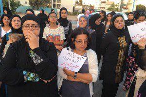 הפגנת נשים בלוד, צילום: גסאן מונייר. שיחה מקומית