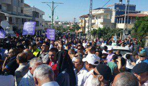 ההפגנה בכפר קאסם. צילום: ניר קידר