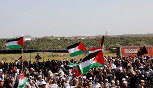 תהלוכת הנכבה סמוך לקיבוץ כברי בגליל, הארץ. AMMAR AWAD/רויטרס
