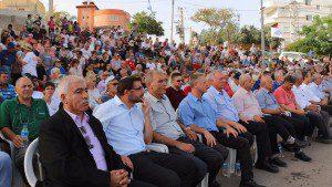 עצרת הזדהות עם תושבי כפר נאורע על אירוע תג המחיר בישוב (צילום: דוברות המועצה אזורית הגלבוע).