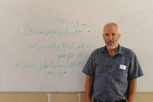 """המורה המנוח יעקוב אבו אלקיעאן. צולם ע""""י תלמידה בפרוייקט """"קומרה"""""""