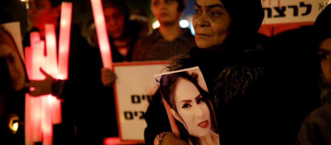 אמה של מוסראטי, מונא, היום בהפגנה. צילום:תומר אפלבאום